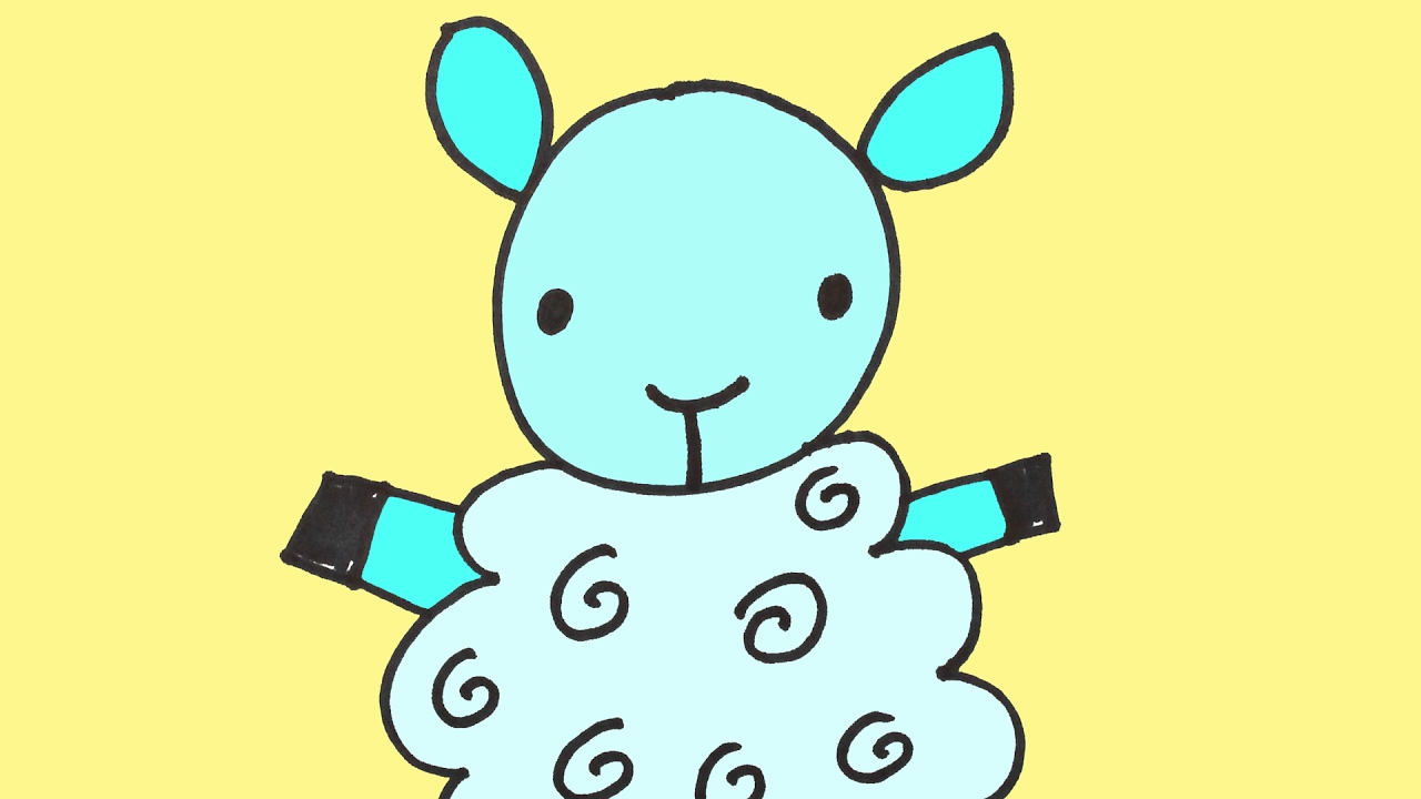 How to Draw a Sheep Baby Step-By-Step by doodleacademy ...