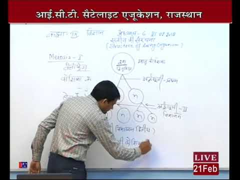 """Rajasthan ICT Satellite Education Science 9th""""Structure of living organism""""21Fab 2017-18 Lect-64"""