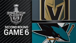 NHL 18 PS4. 2018 STANLEY CUP PLAYOFFS SECOND ROUND GAME 6: WEST GOLDEN KNIGHTS VS SHARKS. 05.06.2018