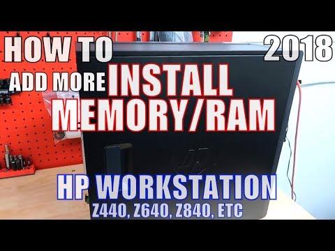 How To INSTALL MEMORY RAM HP WORKSTATION Z440 Z640 Z840