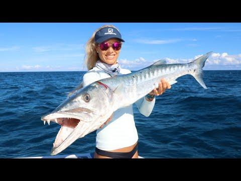 BIT IN HALF! Offshore Fishing For Monster Barracuda In Florida