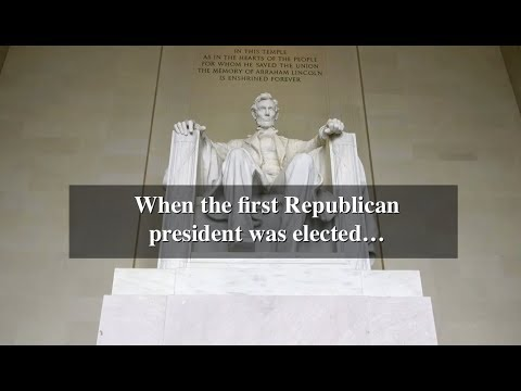 When the first Republican president was elected...