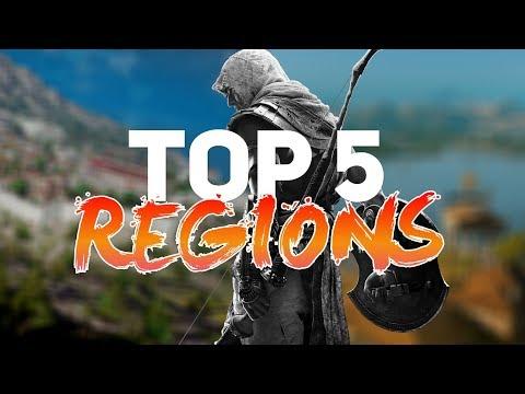 Top 5 Regions in Assassin's Creed Origins