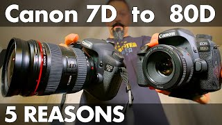 Canon 7D vs. 80D. Unboxing, Review, and Reasons!