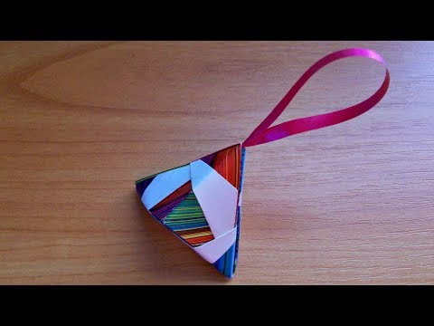 how-to-make-christmas-tree-toys-out-of-paper no-glue-handmade-paper-crafts