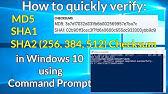 Check Sha1 Sha256 Sha512 Md5 Hash Checksums In Windows 10