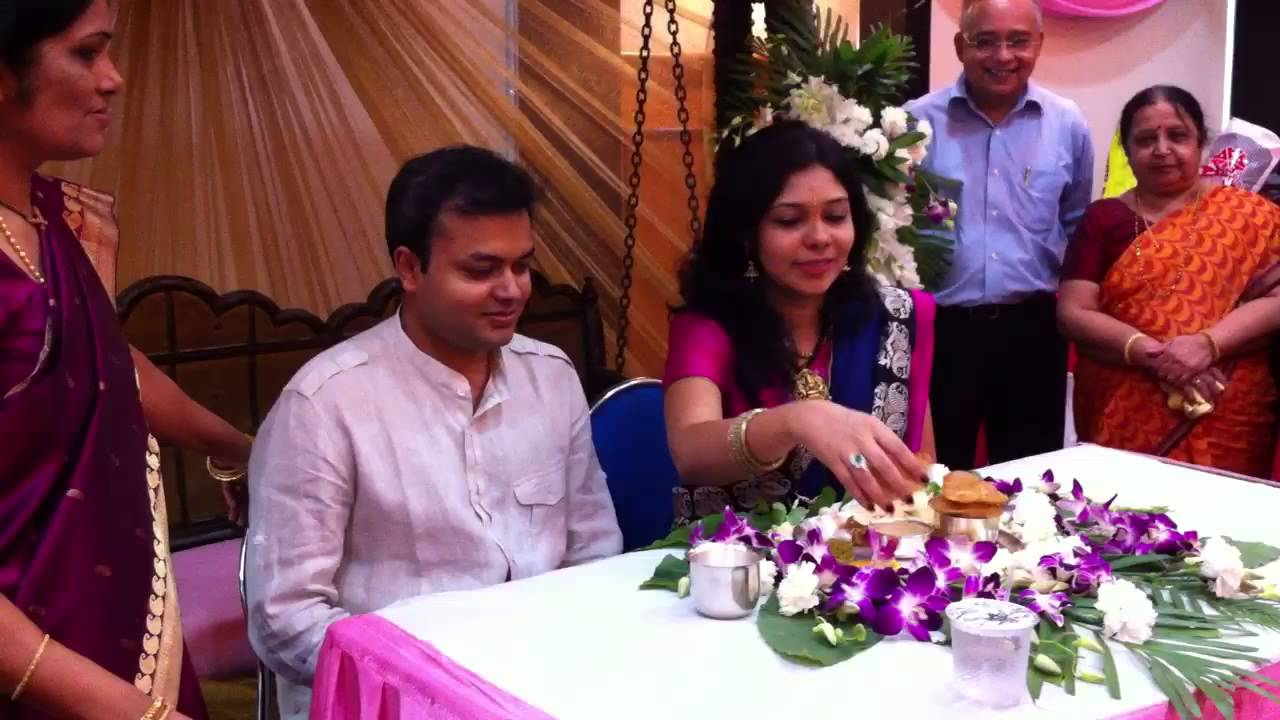 Leena 39 s godh bharai indian baby shower youtube for Baby shower function decoration