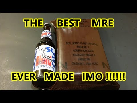 Opening and Eating a 25 year Old US MRE | Menu #2 Corned Bee