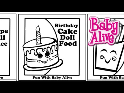 New Baby Alive Doll Food And Juice Packet Template