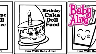 New Baby Alive Doll Food and Juice Packet Template Printouts!