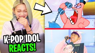 K-POP IDOL REACTS TO LANKYBOX! (ZERO BUDGET INCREDIBLES, CARS, LION KING, CHICKEN WING SONG & MORE)