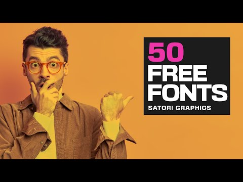 50 Fonts YOU Need To Download Right Now 📩  (FREE FONTS!!)