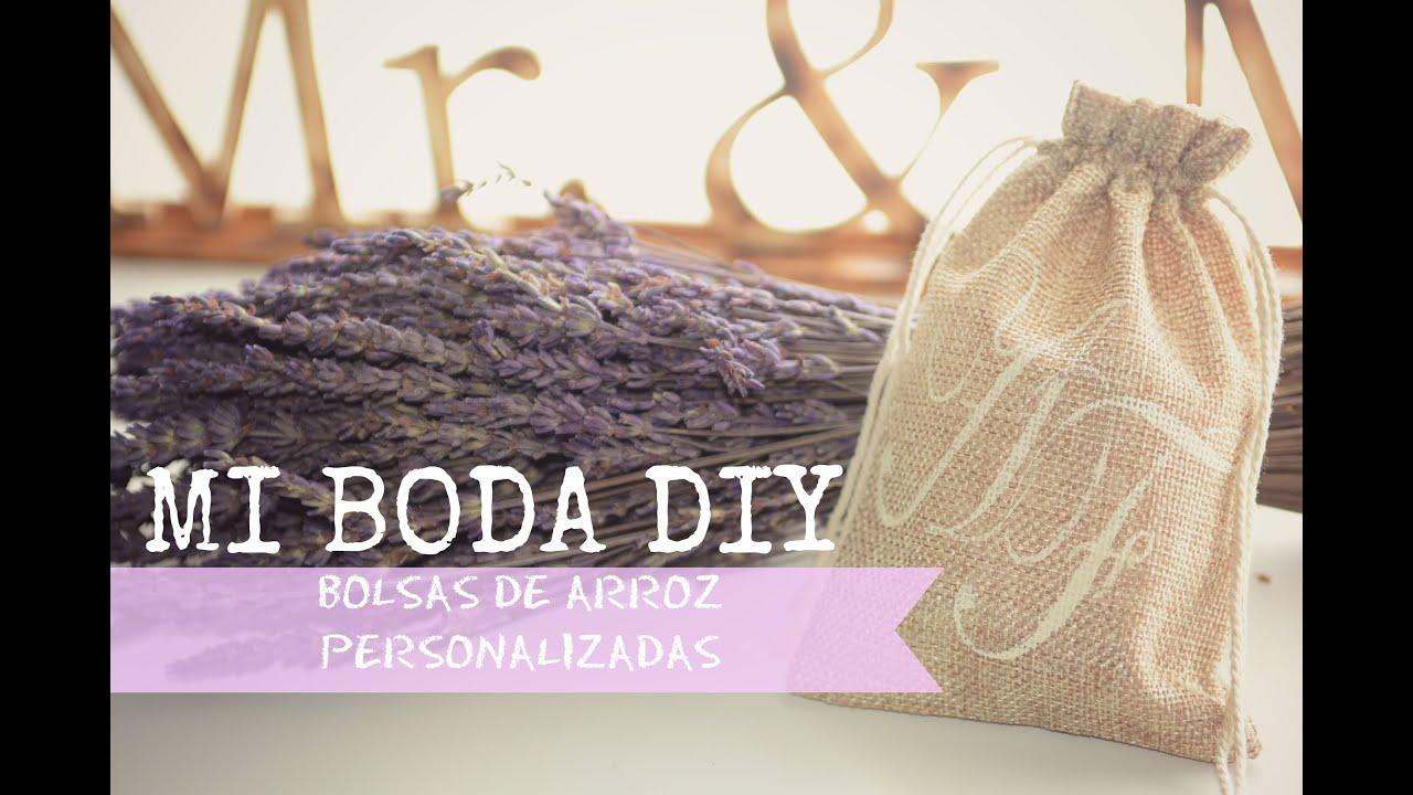 Boda tutorial bolsas para el arroz personalizadas con - Bolsas de regalo personalizadas ...