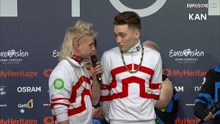 Host freaks out over question to Hatari - EUROVISION 2019 ICELAND - PRESS CONERENCE