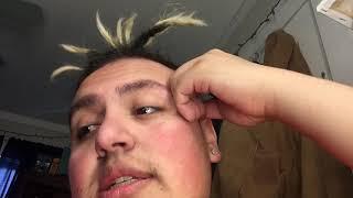 💥😢i got in a car accident🔥🚗, and dread bun (straight hair)