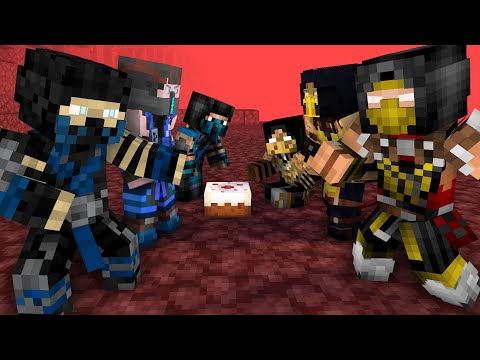 Evolution Of Scorpion Vs Sub Zero Animation(Minecraft Animation)