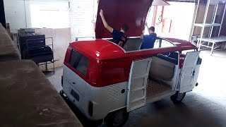 VW Kombi Clipper 1990 Food Truck Transformation