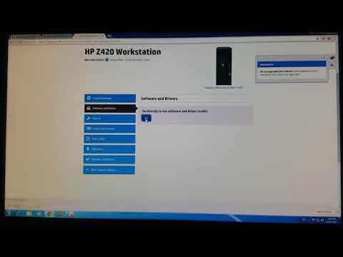 HP Z420 Workstation - VIDEO Hướng dẫn Download Driver - YouTube