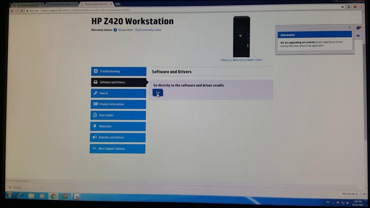 HP Z420 Workstation - VIDEO Hướng dẫn Download Driver