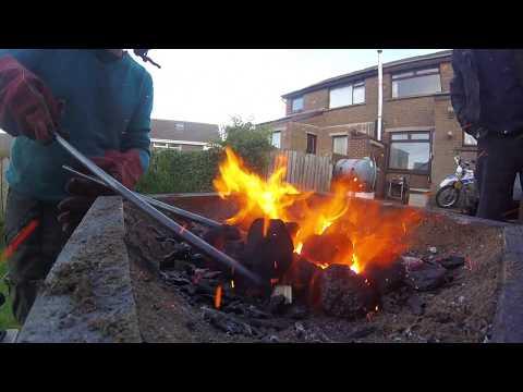 DIY wooden blacksmith forge
