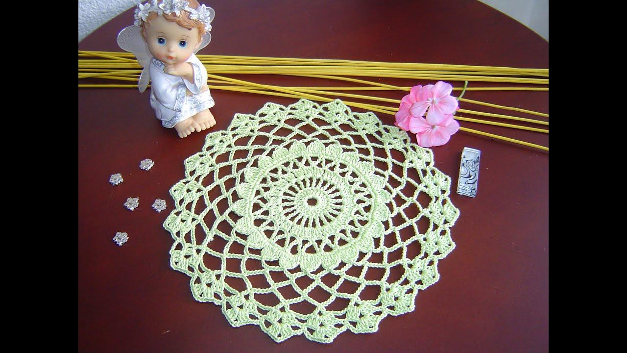 Como aprender a tejer tapete f cil a crochet paso a paso - Como hacer flores de ganchillo ...