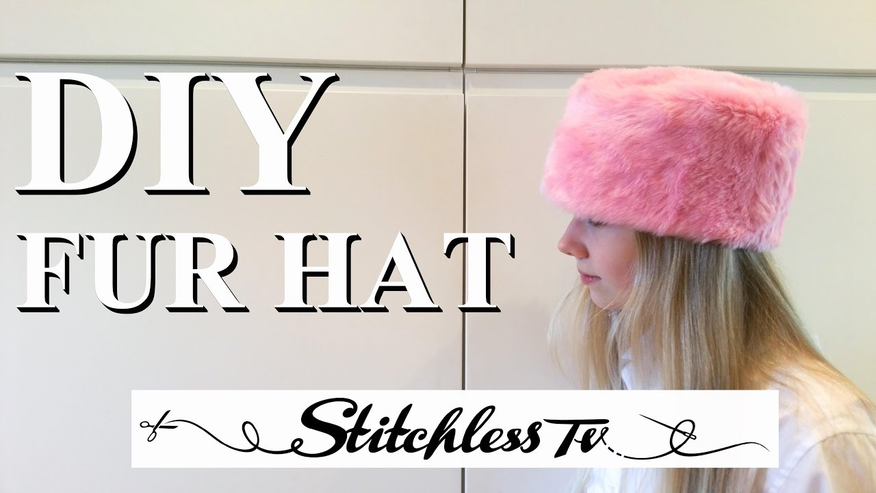 57ac5ea075955 DIY How to Sew a Faux Fur Hat Sewing Tutorial - YouTube