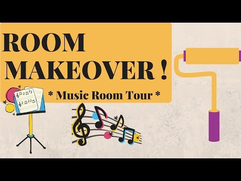 MUSIC ROOM MAKEOVER / ROOM TOUR !