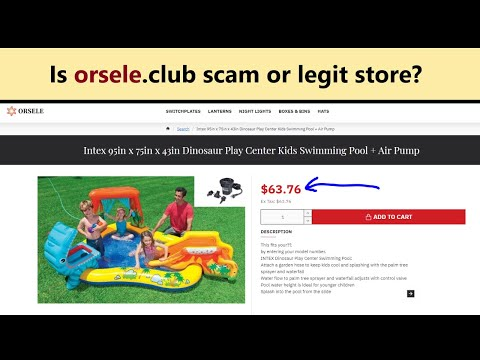 Orsele Reviews! Is Orsele.club Scam Or Legit Website Selling Swimming Pools And Water Slides?