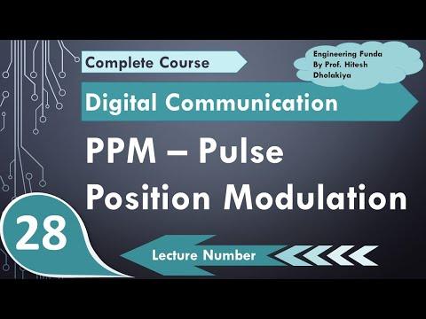 L-24 PPM - Pulse Position Modulation basics, Circuit, working & Waveforms  in Digital Communication