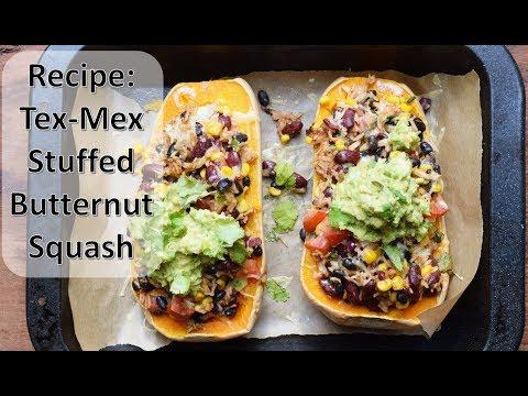 Tex-Mex Stuffed Butternut Squash Recipe