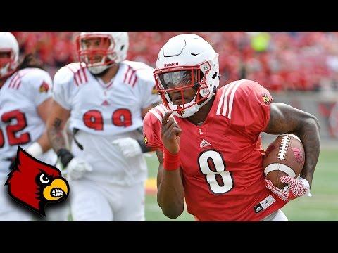 Lamar Jackson Dominates Louisville 2017 Spring Game