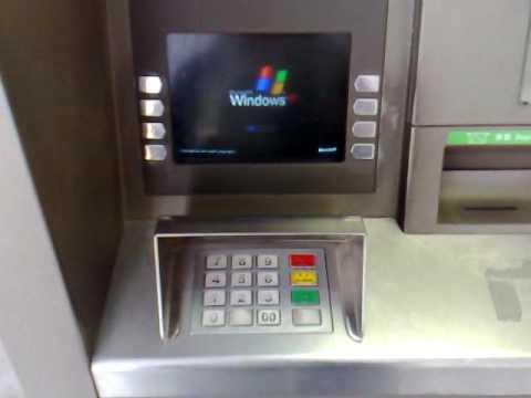080310 滙豐櫃員機行 Windows XP HSBC ATM run WIN XP - YouTube