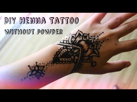 DIY Henna Tattoo (Without Henna Powder!)