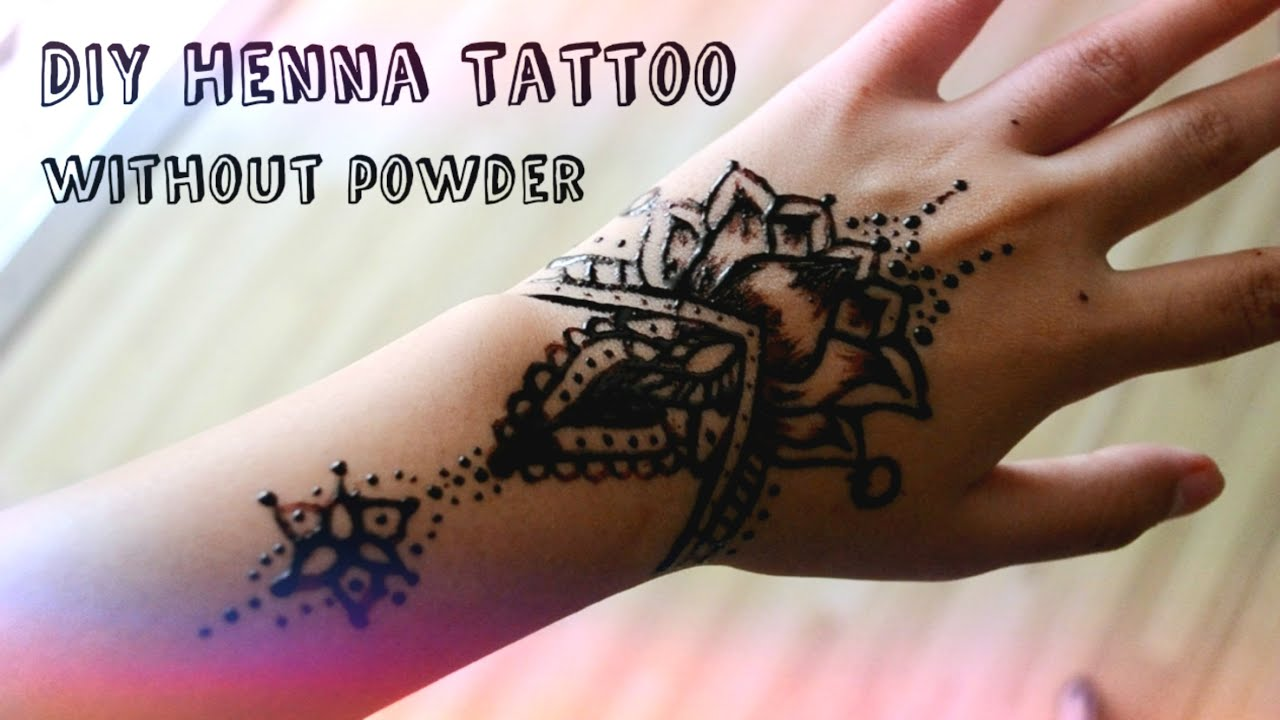 Diy henna tattoo without henna powder youtube solutioingenieria Image collections