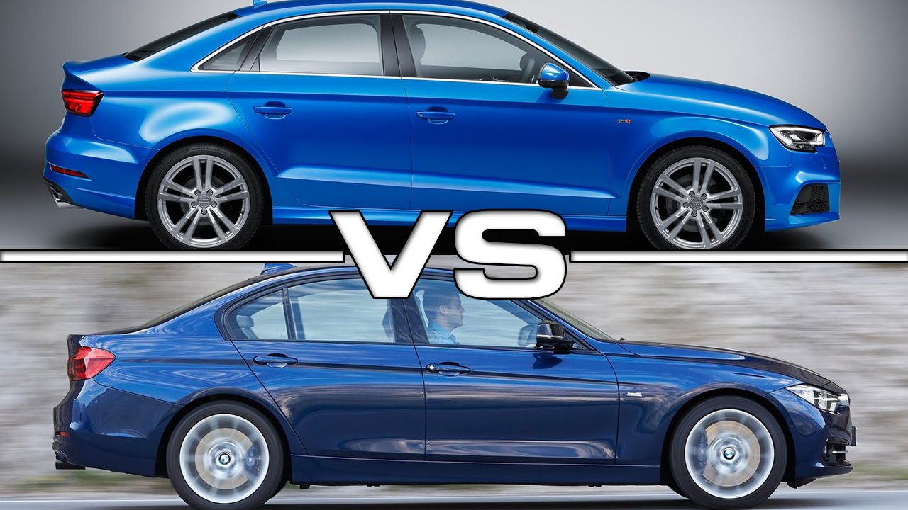 2017 Audi A3 Sedan Vs Bmw 3 Series Youtube