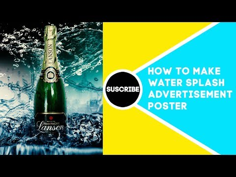 How to create advertising poster in Adobe Photoshop tutorial thumbnail