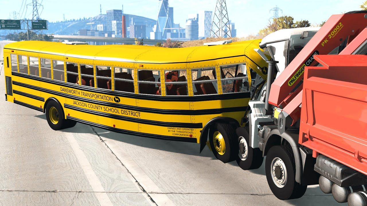 School Bus Crashes #1 – BeamNG.Drive