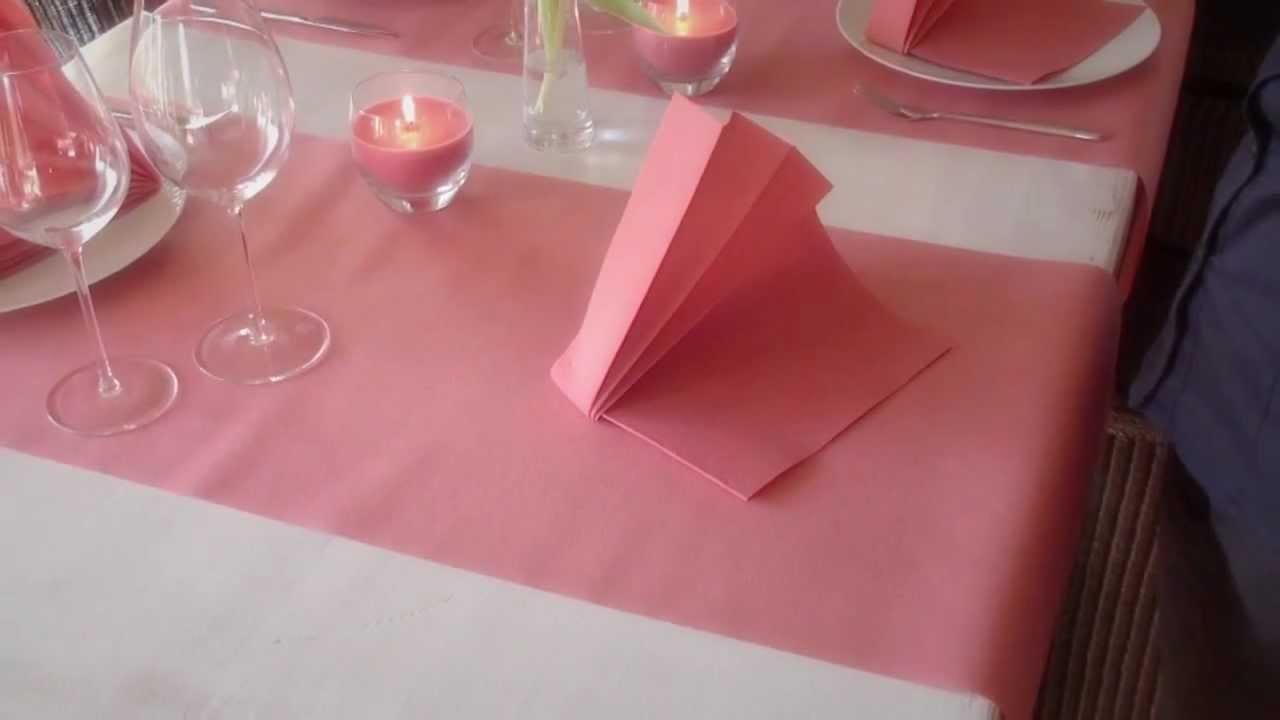 Napkin folding from Duni - Open Fan - YouTube