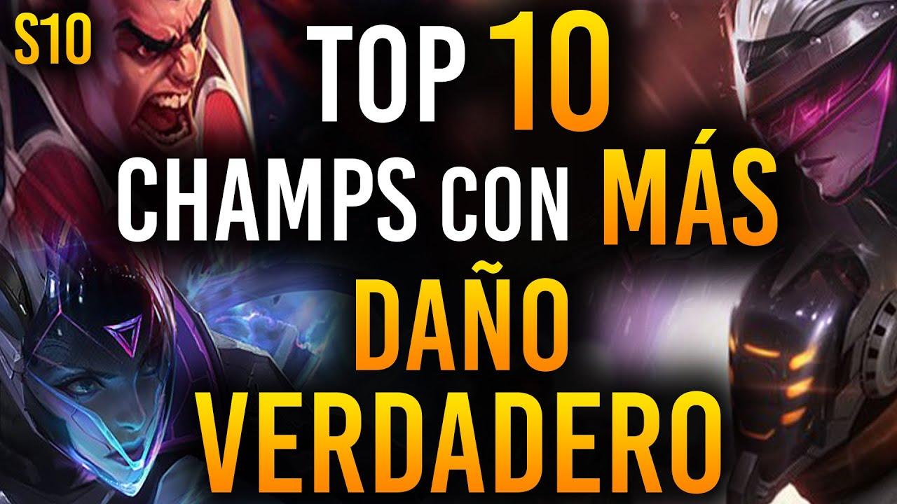 TOP 10 Campeones con MÁS DAÑO VERDADERO en League of Legends | Guía LOL S10