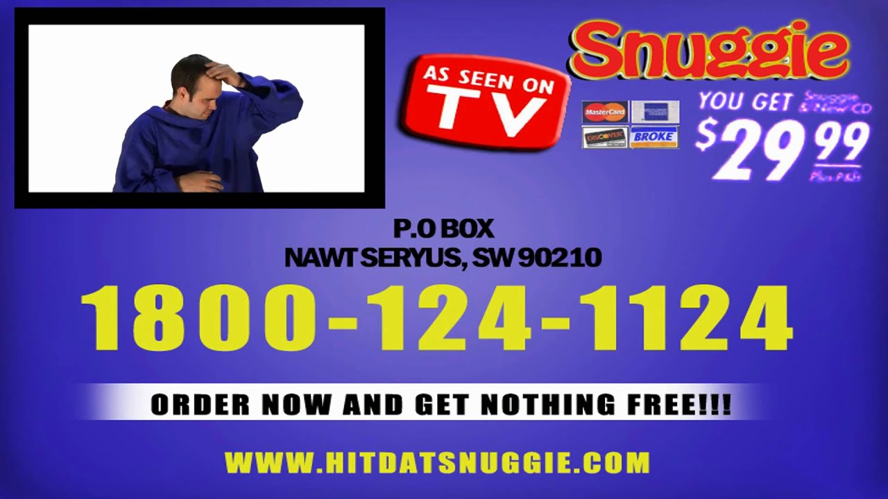 Snuggie TV Commercial - Parody - YouTube