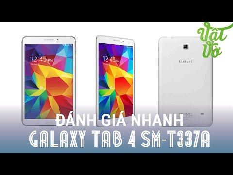 Vật Vờ  Trên tay đánh giá nhanh Samsung Galaxy Tab 4 8″ SM-T337A