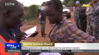 State governors in South Sudan sign new deal meant to end ethnic clashes