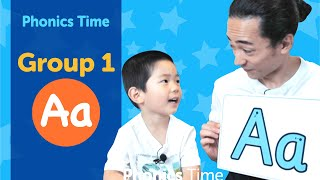 Group 1: Aa | Phonics Time with Masa and Junya | Made by Red Cat Reading