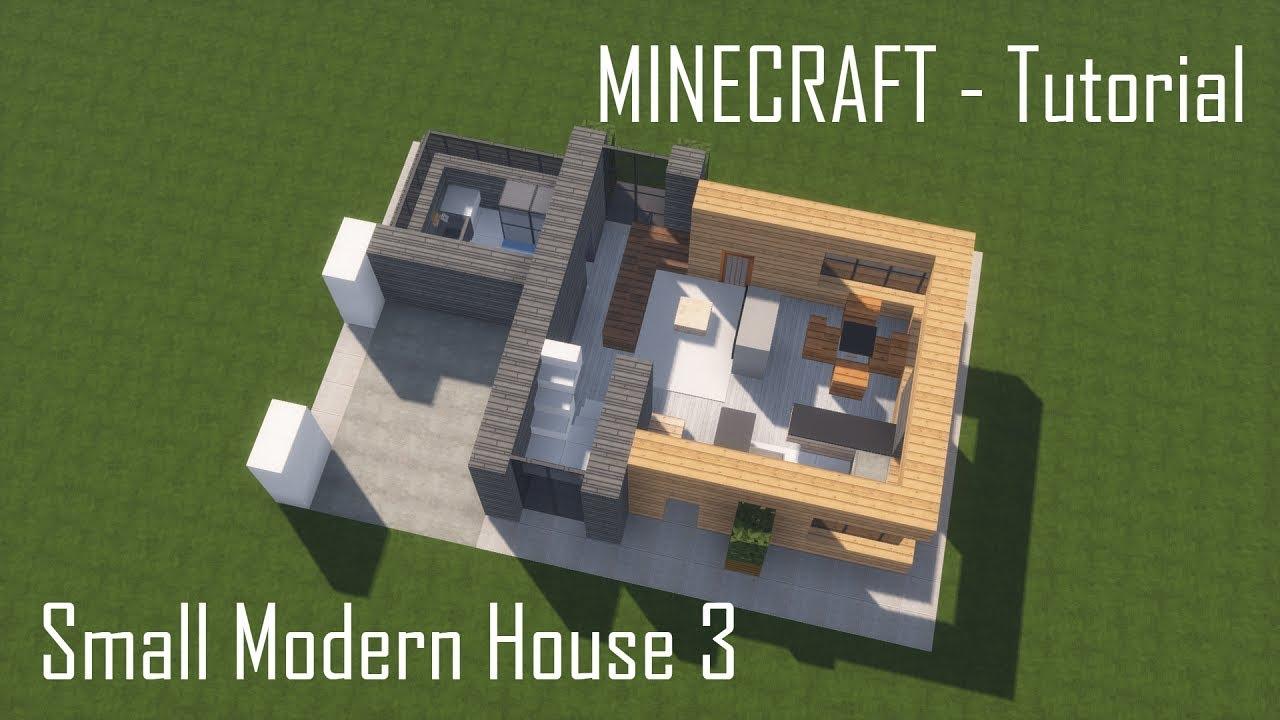 Minecraft Small Modern House 3 Tutorial Interior
