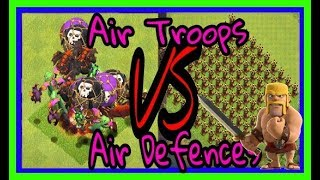 Air Defense vs All Troops clash of clans | coc all troops vs air defence |