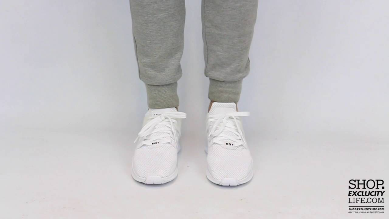 a1287b4260 Adidas Equipment Support Advance White - White On feet Video at Exclucity