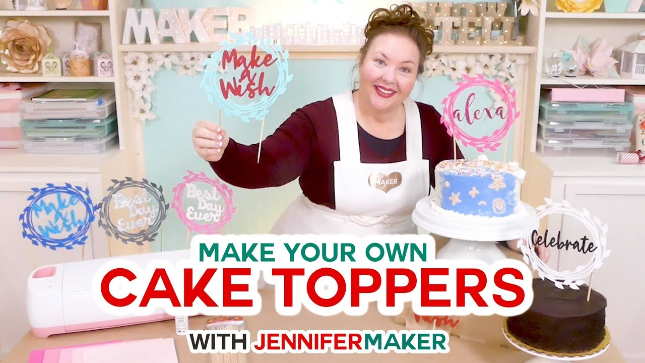 Diy Cake Toppers For Birthday Weddings Customize Your Own Youtube