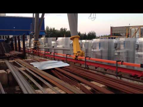 Установка троллейного шинопровода на козловой кран