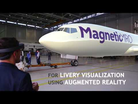 Aircraft livery visualization using Microsoft HoloLens