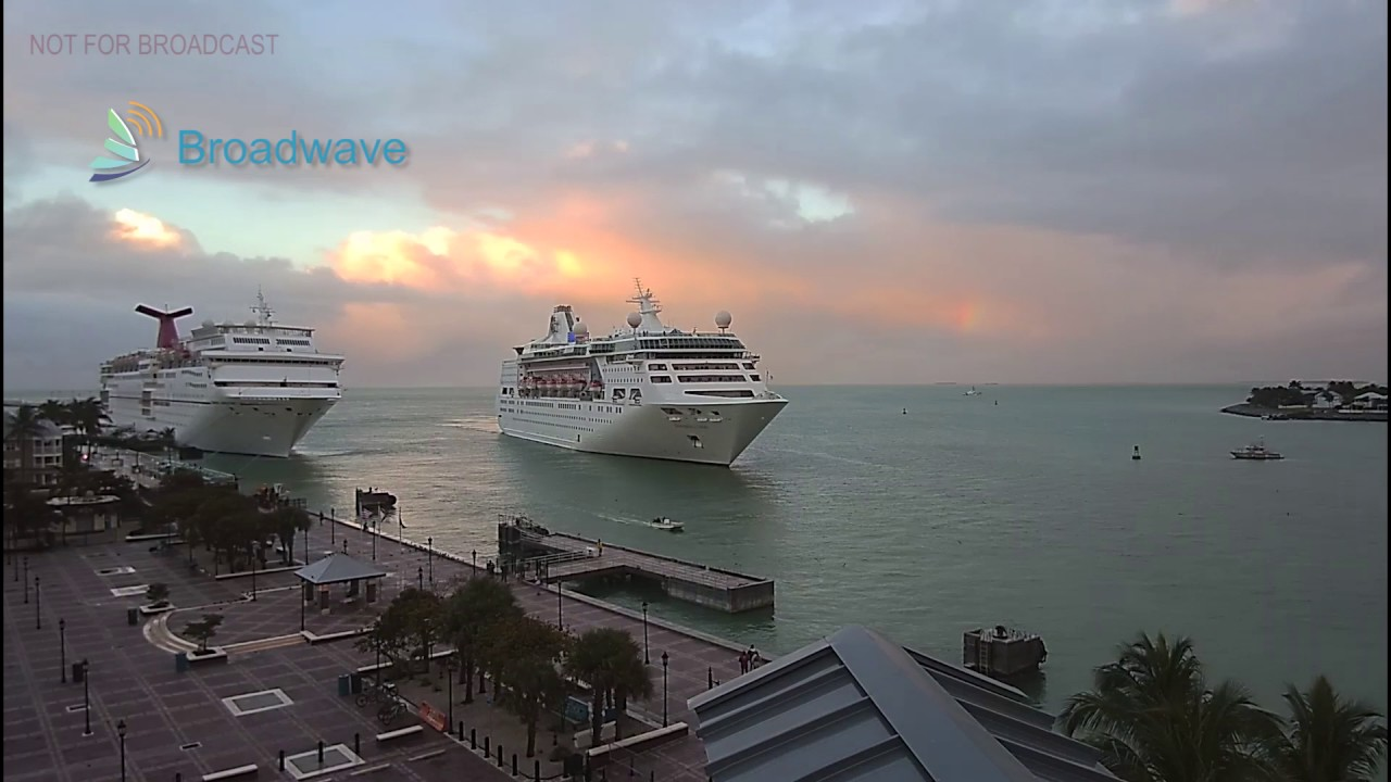 Two Cruise Ships Arrive In Key West FL Timelapse - Cruise ships key west